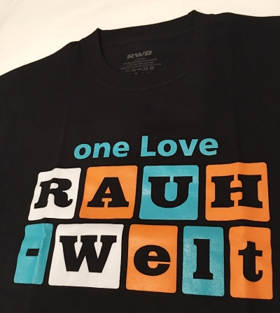 Limited Edition one Love RAUH-Welt Idlers T-Shirt (Black and Blue)
