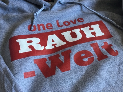 2016 one Love RAUH-WELT Pullover Hoodie (Grey and Red)