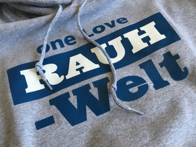 2016 one Love RAUH-WELT Pullover Hoodie (Grey and Blue)