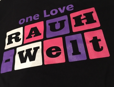 Limited Edition one Love RAUH-Welt Idlers T-Shirt (Black and Purple)