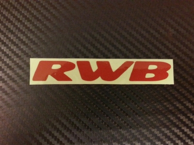 RWB Small Decal (Red)