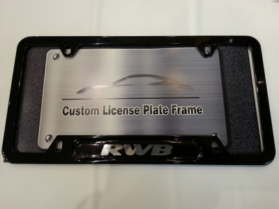 RWB Custom License Plate Frame